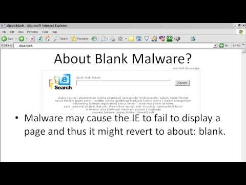 What is About Blank Virus - YouTube