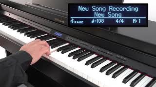 「錄音」Roland GP/LX/HP/DP數位鋼琴快速入門教學#06