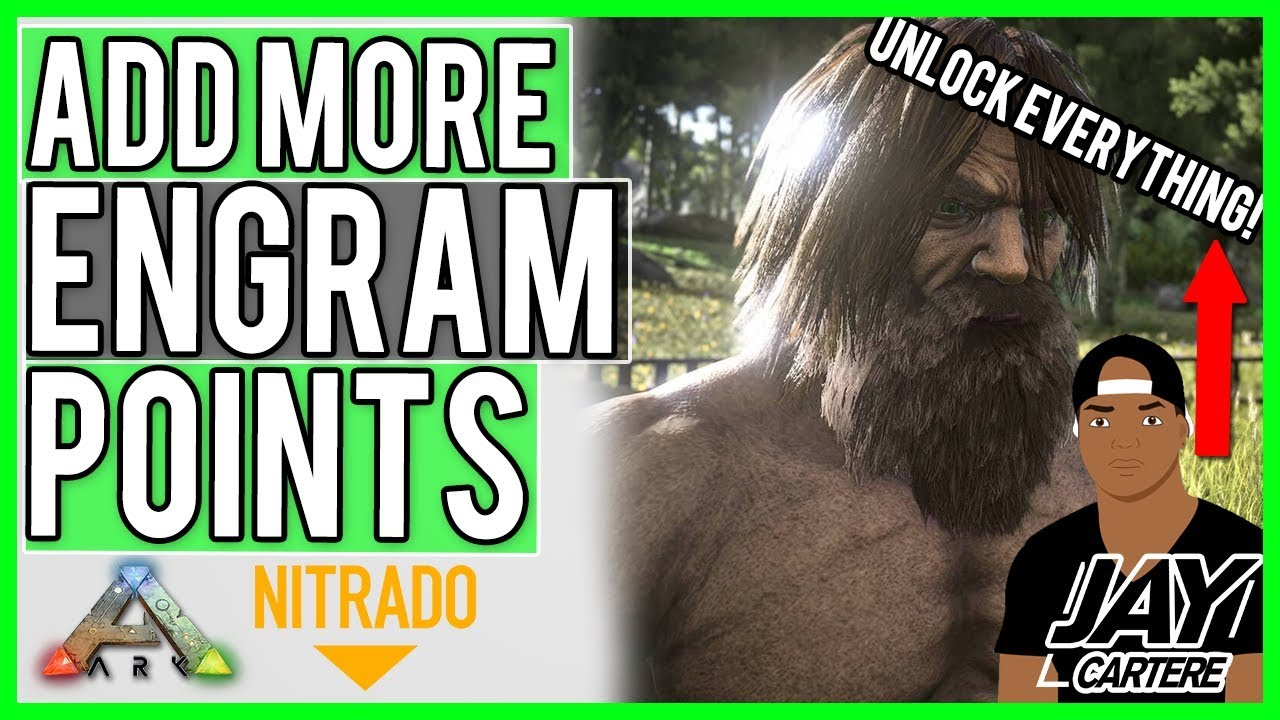 ARK Survival Evolved PS4 Tutorial - How To Add More Engram Points Per Level  On Your Nitrado Server