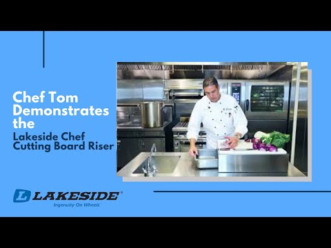 Chef Tom Demonstrates the Lakeside Chef Cutting Board Riser