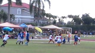 Paolo Scores on a volley from a free kick