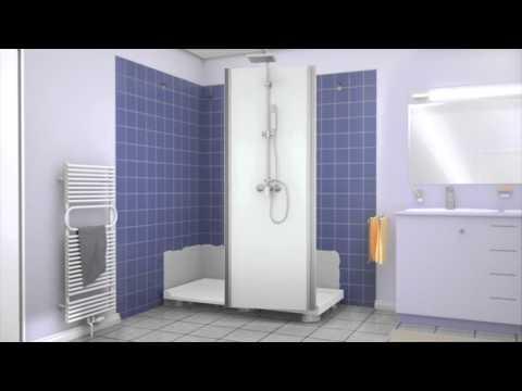 remplacez votre baignoire par une douche sans gros travaux doovi. Black Bedroom Furniture Sets. Home Design Ideas
