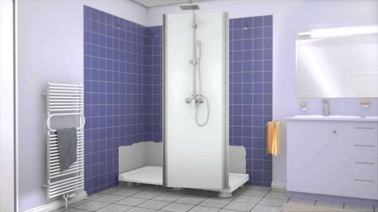 remplacer sa baignoire par une douche kinemagic kineo youtube. Black Bedroom Furniture Sets. Home Design Ideas