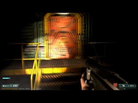 Doom 3 walkthrough - Caverns - Area 2 |