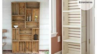 Diy organizador con cajas o huacales de madera reciclando for Muebles sostenibles