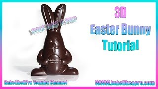 EASY Super Cute 3D Chocolate Easter Bunnies Tutorial   Hand Painted
