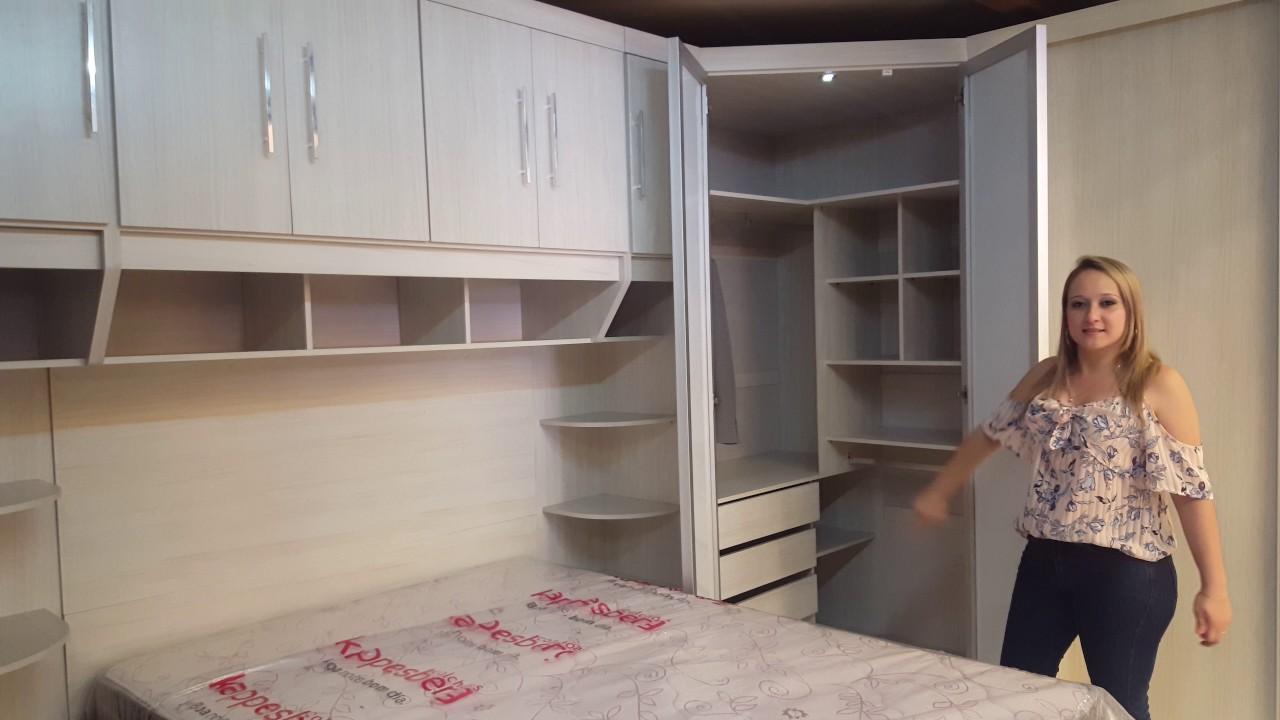 Mesa Aparador Para Quarto De Bebe ~ Canto closet modulado 100% MDF YouTube
