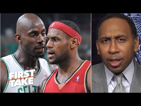Stephen A. reacts to Kevin Garnett claiming his Celtics ran LeBron out of Cleveland | First Take