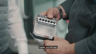 6. Das Fertigungsstück aus dem 3D Metalldrucker in der CNC Maschine fertigstellen
