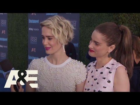 Sarah Paulson and Amanda Peet on the Red Carpet | 22nd Annual Critics' Choice Awards | A&E