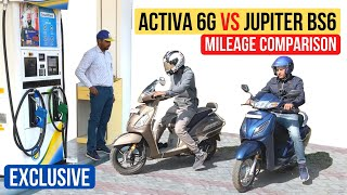 Honda Activa 6G VS TVS Jupiter BS6 Mileage Test Comparison - Big Difference