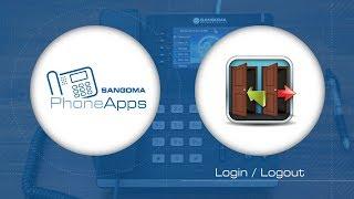 Sangoma PhoneApps: Login / Logout