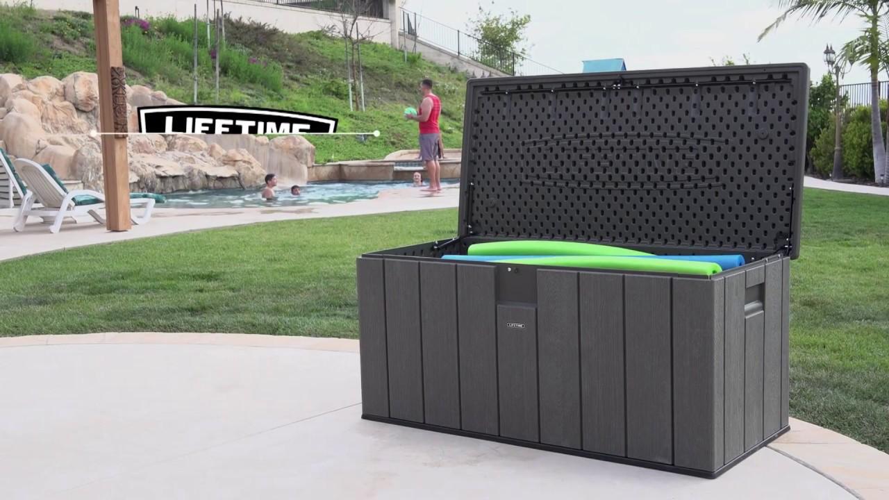 *NEW* Lifetime Outdoor Storage Box Rough Cut Texture - Model 60215 & NEW* Lifetime Outdoor Storage Box Rough Cut Texture - Model 60215 ...