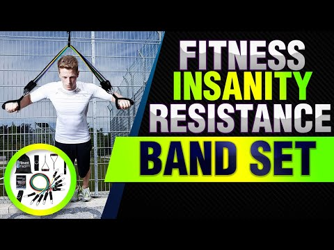 Fitness Insanity Resistance Band Set Include 5 Stackable Exercise Bands with Waterproof Carrying