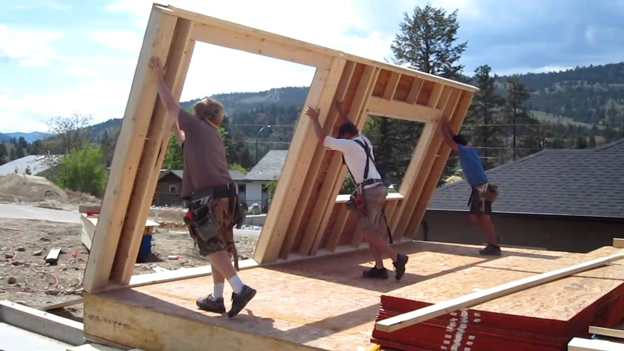 Wall Jacks For Framing standing exterior walls - youtube