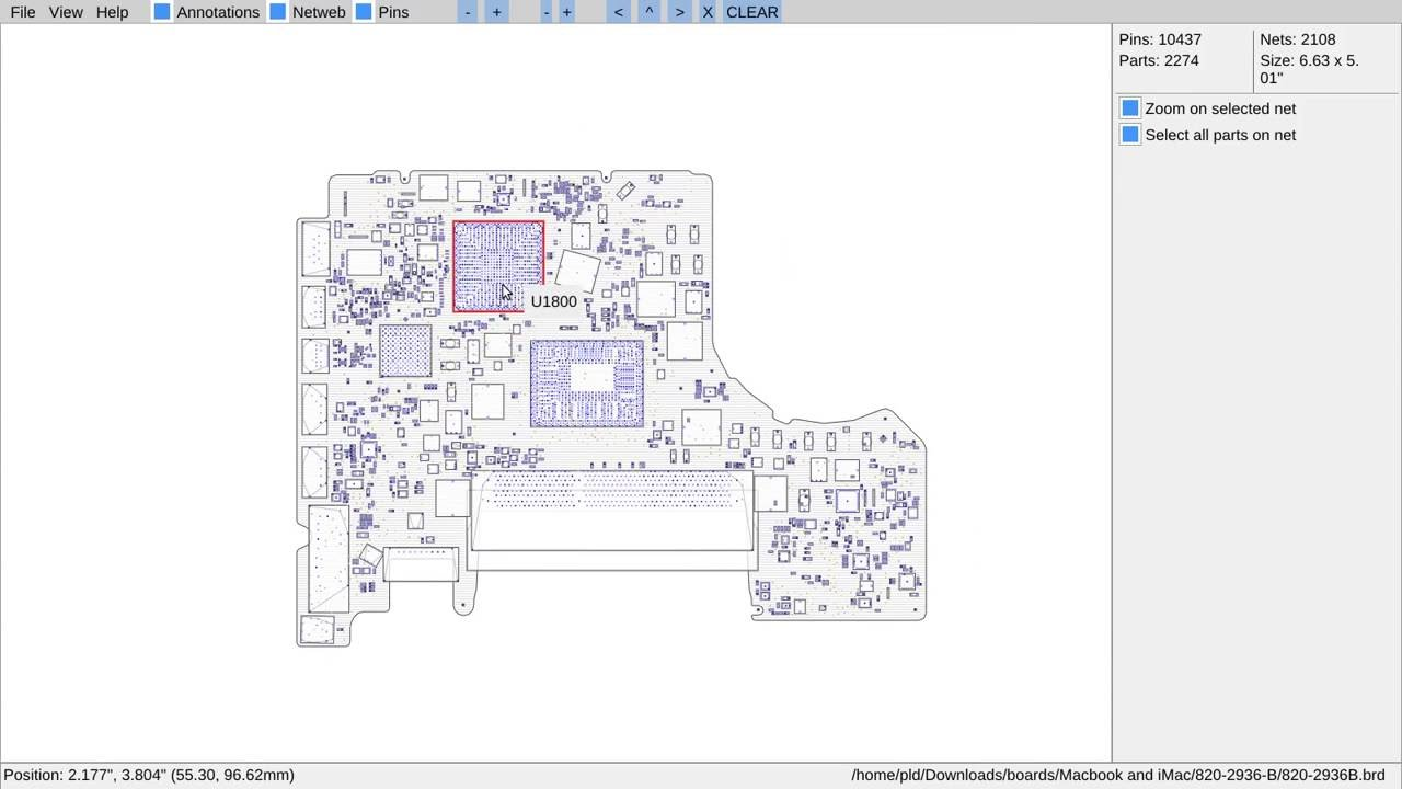 Openboardview org - Software for viewing PCB/Laptop
