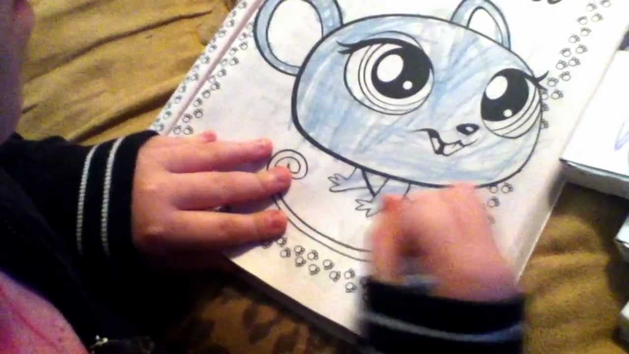 Littlest pet shop coloring book - YouTube