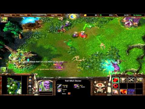 Warcraft 3 Killing Cenarius with normal Orcs