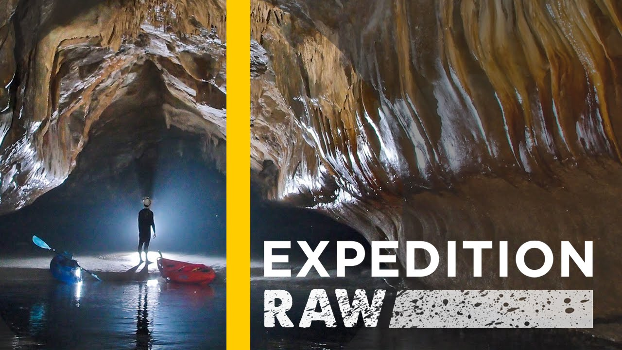 Watch: Inside the World's Longest Sea Caves   Expedition Raw