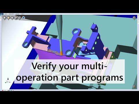 Verify your multi-operation part programs | Features | NCSIMUL Machine