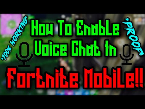 How To Enable Voice Chat On Fortnite Mobile! *100% WORKING* *PROOF*
