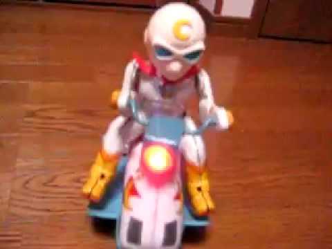 Vintage Moonlight Mask Rider Tin Toy