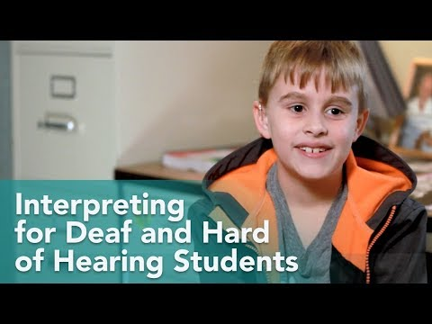 How Are Deaf Children Supported in class