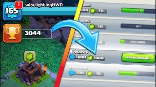 1,000 FREE GEMS IN CLASH OF CLANS CLAIMED! WE GOT 3,000 TROPHIES IN THE NEW BUILDER BASE!