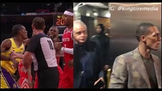 Rajon Rondo LEAVES Arena After FIGHT w/ Chris Paul, Brandon Ingram & Lonzo, Harden, Melo React