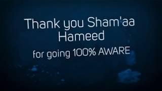 Thank you Sham'aa Hameed