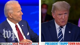 Biden and Trump's dueling town halls in 3 minutes
