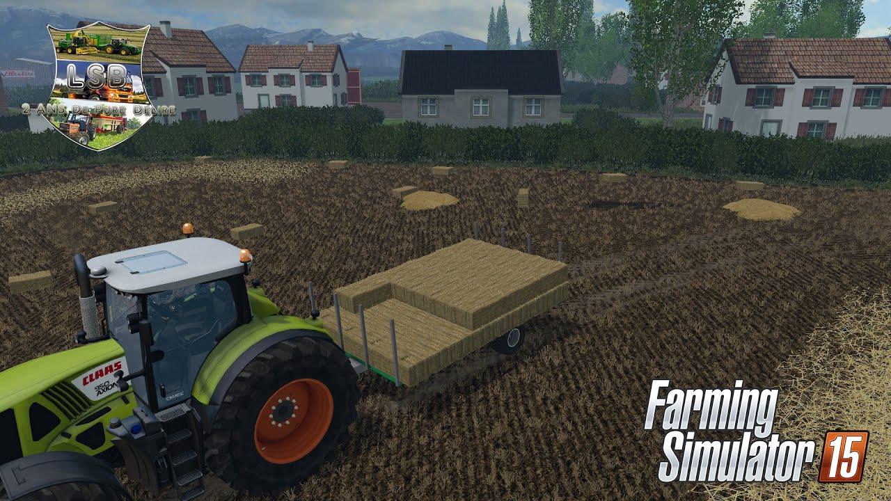 28 pr sentation des mods plateau petits ballots farming simulator 15 youtube. Black Bedroom Furniture Sets. Home Design Ideas