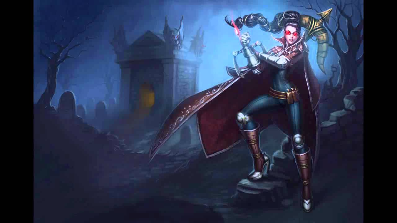 league of legends champion themes vayne the night