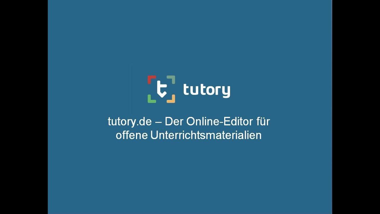 Arbeitsblatt erstellen mit Tutory - YouTube