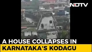 On Video, Dramatic House Collapse After Rain In Karnataka's Kodagu