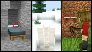 10 Ways to Hide Your Minecraft Base with NO REDSTONE (ok maybe a little..)