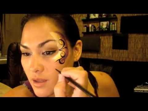 Floral Eye Face Paint Tutorial Youtube