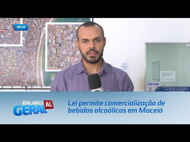Lei permite comercialização de bebidas alcoólicas em espaços públicos de Maceió