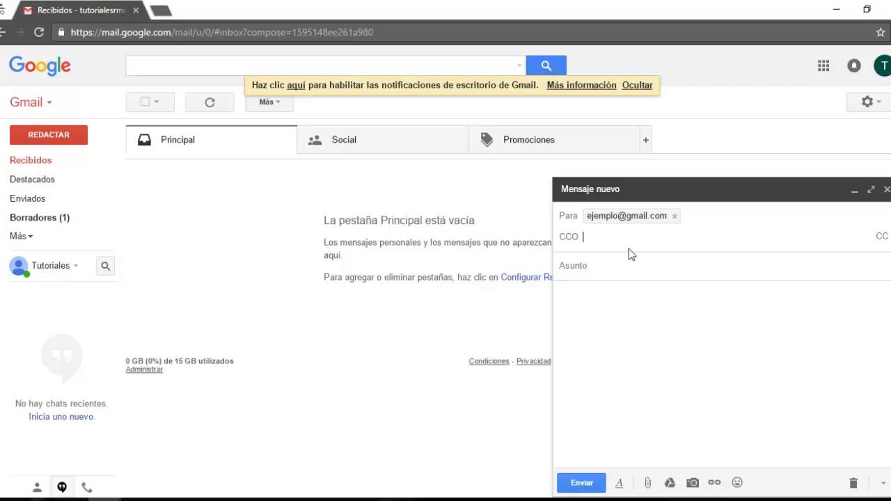 Enviar Un Correo Con Cc Y Cco Outlook Gmail Hotmail