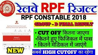 RPF CONSTABLE GROUP D FINAL CUT OFF, कुल कितने अभ्यर्थी फिजिकल में पास हुए