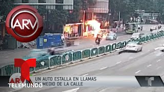 Al borde de la muerte cuando su auto estalló en llamas | Al Rojo Vivo | Telemundo