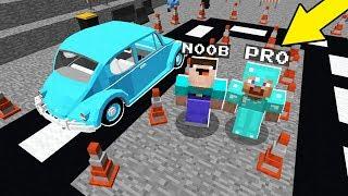 Minecraft NOOB VS PRO : DRIVING SCHOOL in Minecraft! Animation