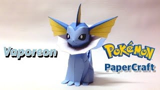 Vaporeon Pokemon PaperCraft