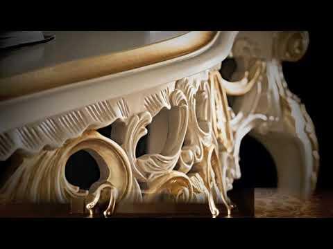 Italian furniture  Gold leaf furniture  مفروشات كلاسيكية فاخرة