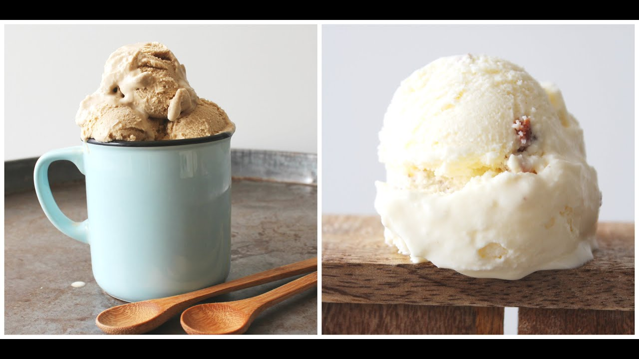 How To Make Coffee Ice Cream And Bacon Ice Cream - By One Kitchen ...