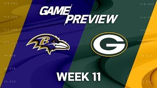 Baltimore Ravens vs. Green Bay Packers | NFL Week 11 Game Preview