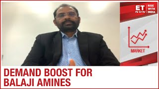 Pharma Sector Driving Amines? | D Ram Reddy Of Balaji Amines To ET NOW