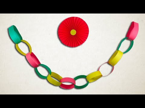 How To Make Paper Chains Easily || DIY Paper Decorations.