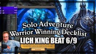 (Hearthstone) Warrior VS Lich King Winning Decklist 🍀🎲 ~ Knights of the Frozen Throne Expansion