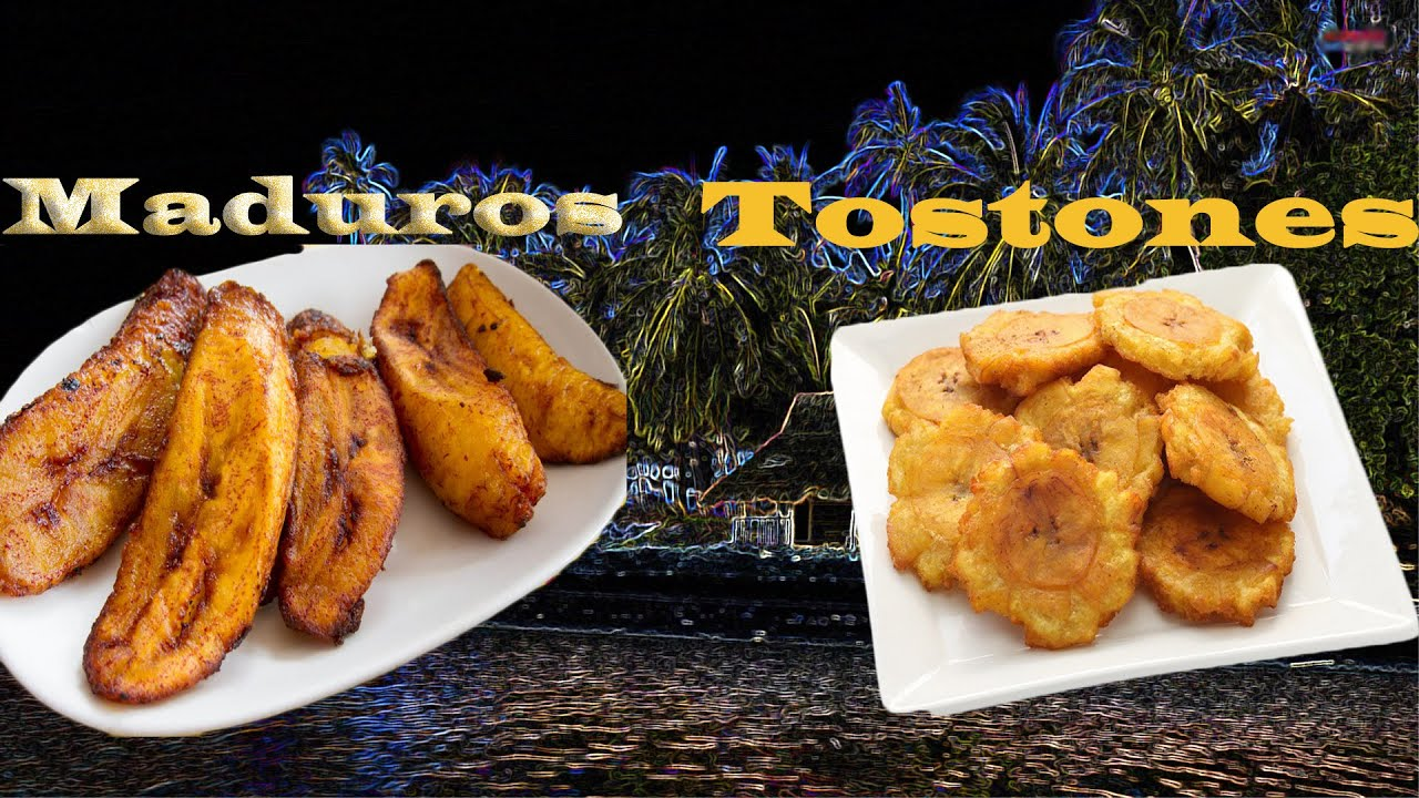 How To Make Tostones And Maduros Side Dish Fried Plantains And Sweet Fried Plantains Youtube